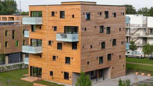 У Гамбурзі побудували вуглецево-нейтральний дерев'яний житловий будинок Woodcube