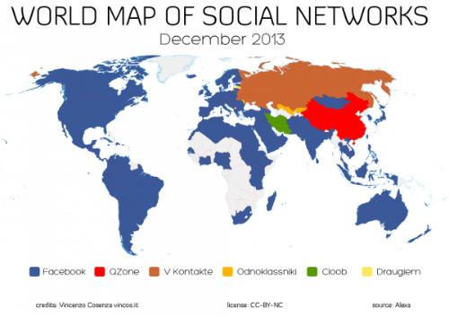 Photo of Україна залишається однією з 10 країн, де Facebook не є соцмережею № 1