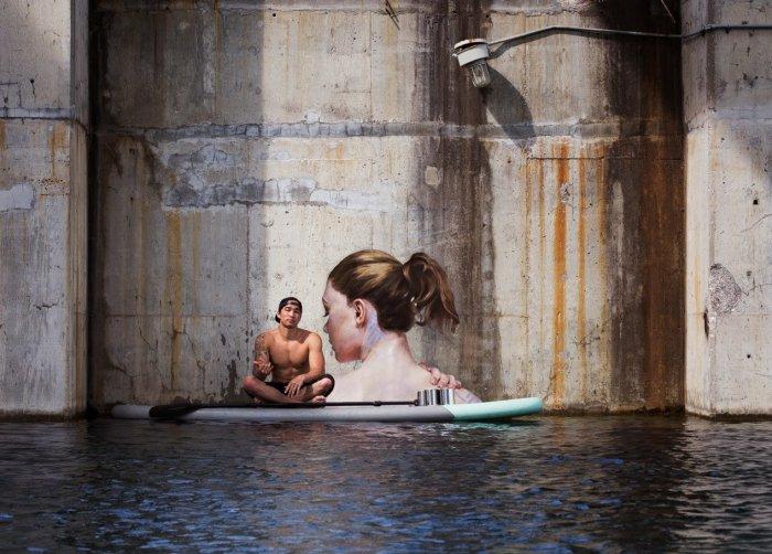 Photo of Плаваючі дівчата у стріт-арті Hula (фото)