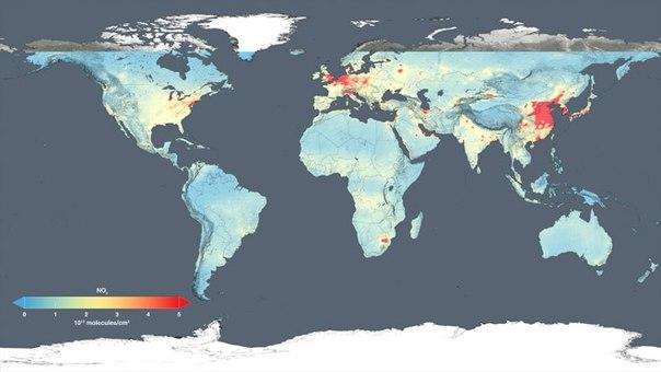 Photo of Світова карта забруднення повітря