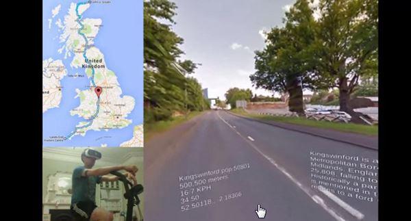 Photo of Британець подорожує на велотренажері в окулярах віртуальної реальності (відео)