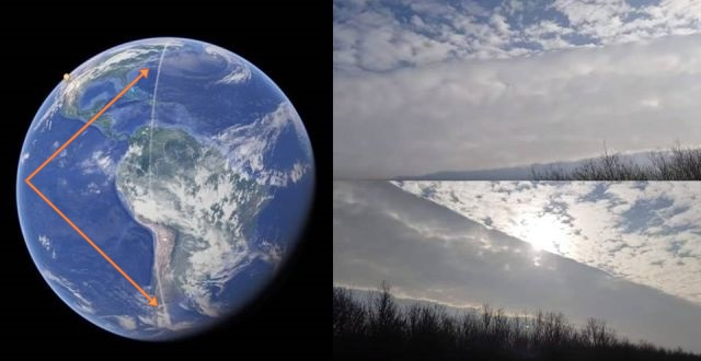 Photo of Дивна хмарна лінія простягнулася від Південного до Північного полюса Землі
