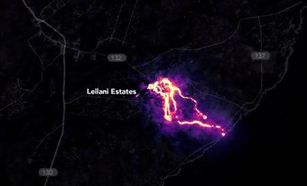 Photo of Лавові потоки гавайського вулкану вночі на фото зі супутника
