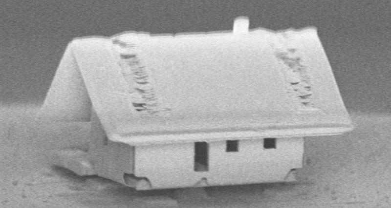 Photo of Найменший будинок у світі: кілька мікрометрів на кінчику волосини