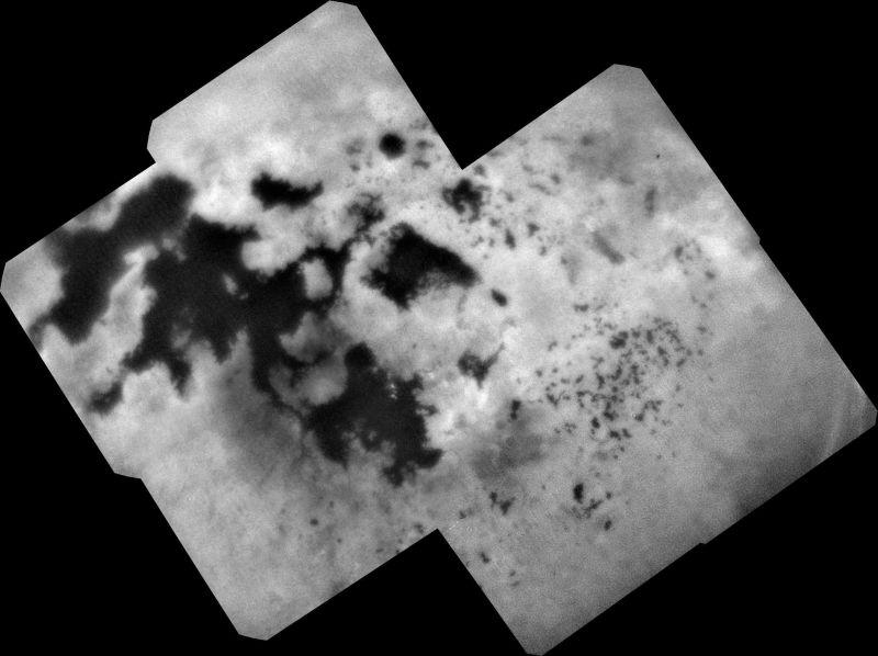 Photo of «Останній погляд» апарату «Кассіні» на моря північної півкулі Титану
