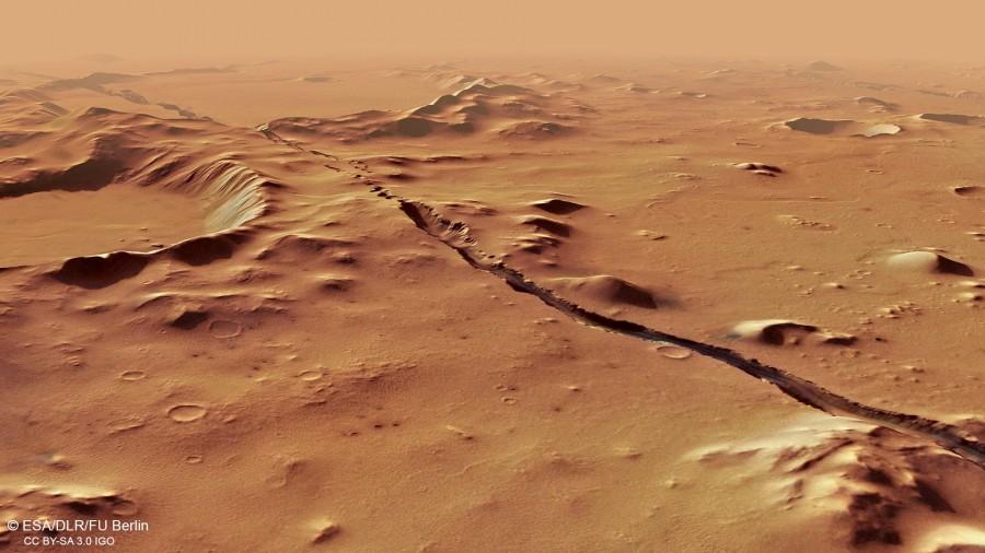 Photo of Mars Express зробив фото слідів недавньої тектонічної активності на Марсі