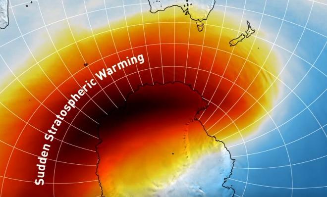 Photo of Раптове стратосферне потепління над Південним полюсом: температура більш ніж на 40 °C вище норми