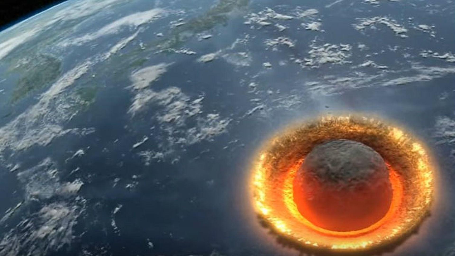 Photo of Гіпотеза: 66 млн років тому в Атлантичний океан впав метеорит. Його уламки могли досягти Місяця!