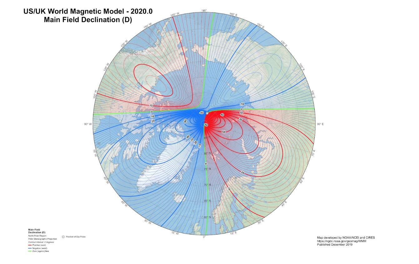 Photo of Оновлена модель показує, що північний магнітний полюс швидко рухається у бік Сибіру