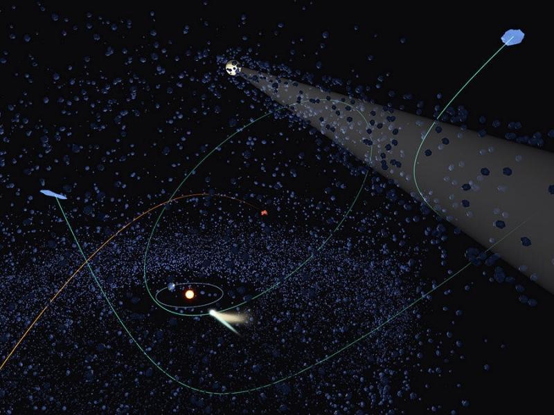 Photo of Комети, що залишають Сонячну систему, ймовірно, прибули здалеку