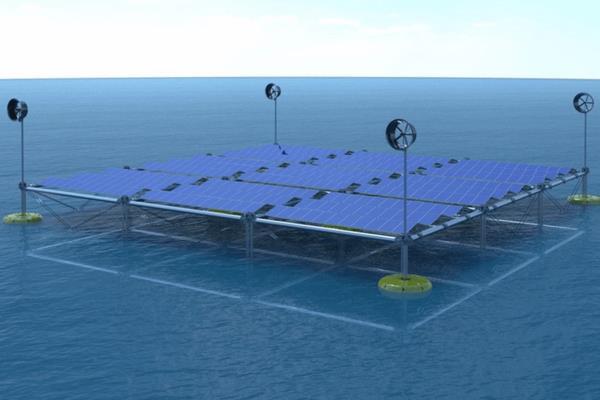 Плаваюча океанська платформа збирає енергію вітру, сонця і хвиль ...