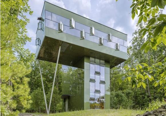 Заміський будинок у лісі - Tower House від студії Gluck+ (3)