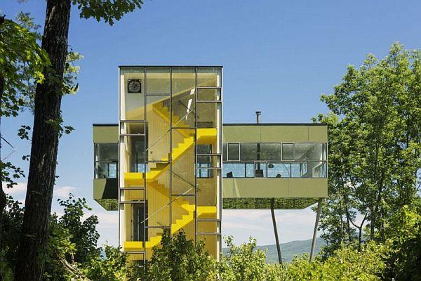 Заміський будинок у лісі - Tower House від студії Gluck+ (4)
