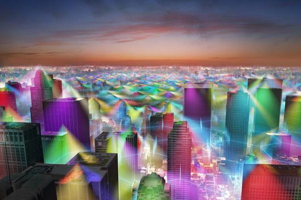 Художник намалював, як виглядав би світ, якби люди могли бачити сигнали стільникової мережі