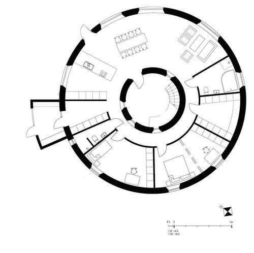 Вілла Nyberg: круглий пасивний будинок у Швеції (1)