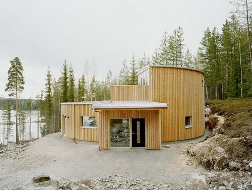 Вілла Nyberg: круглий пасивний будинок у Швеції (4)