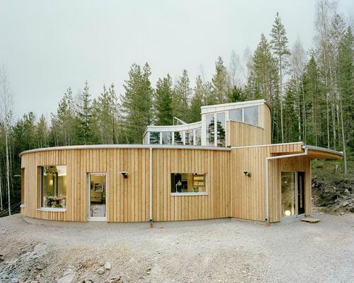 Вілла Nyberg: круглий пасивний будинок у Швеції (5)