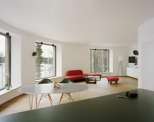 Вілла Nyberg: круглий пасивний будинок у Швеції (8)