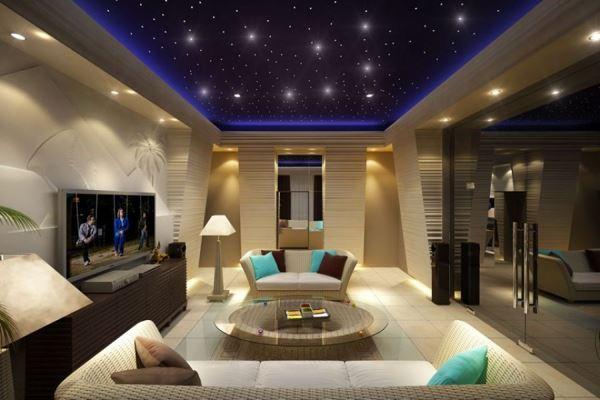 Звездный потолок в гостиной
