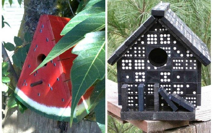 Домик для птиц сделанный своими руками 724