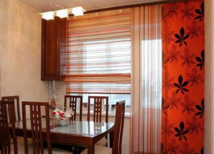 Дизайн окна на кухне с балконом фото