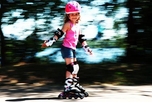 роликовых детские фото коньках на