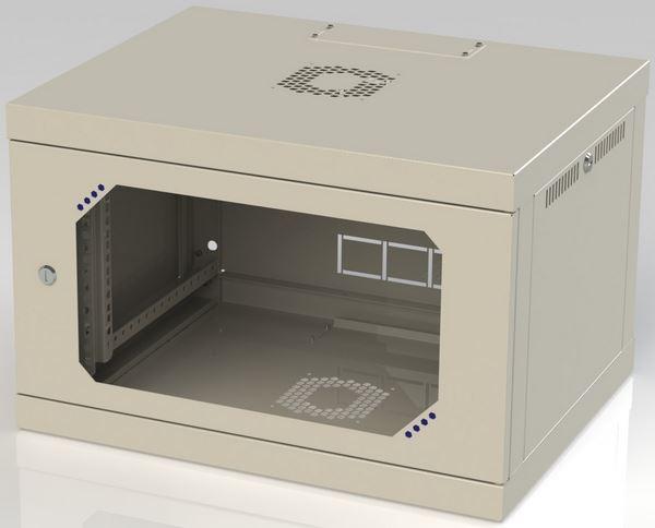 Шкаф серверный настенный 6u, 600x450x390 мм (ш*г*в)