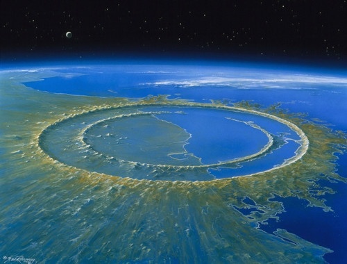 На юге Атлантики обнаружен кратер диаметром 250 километров