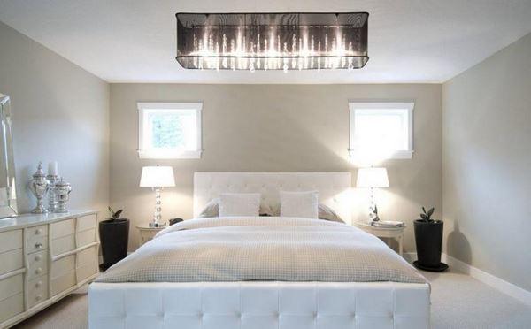Припотолочные люстры в спальню