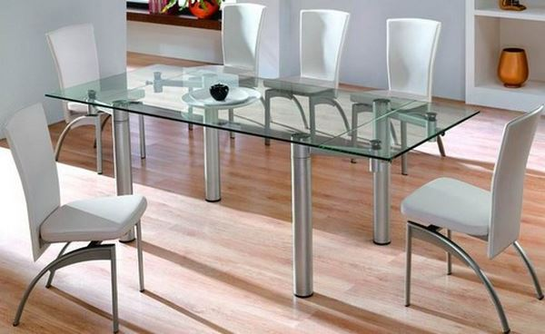 стеклянные столы для кухни