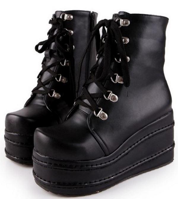 Женские панк ботинки