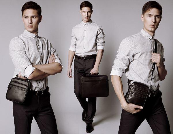 мужская сумка из кожзаменна