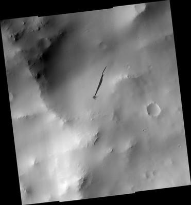 На Марсе потерпел крушение НЛО?